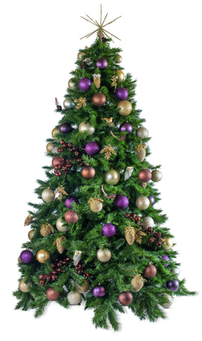 'Woodland' artificial decorated Christmas Tree - Hire