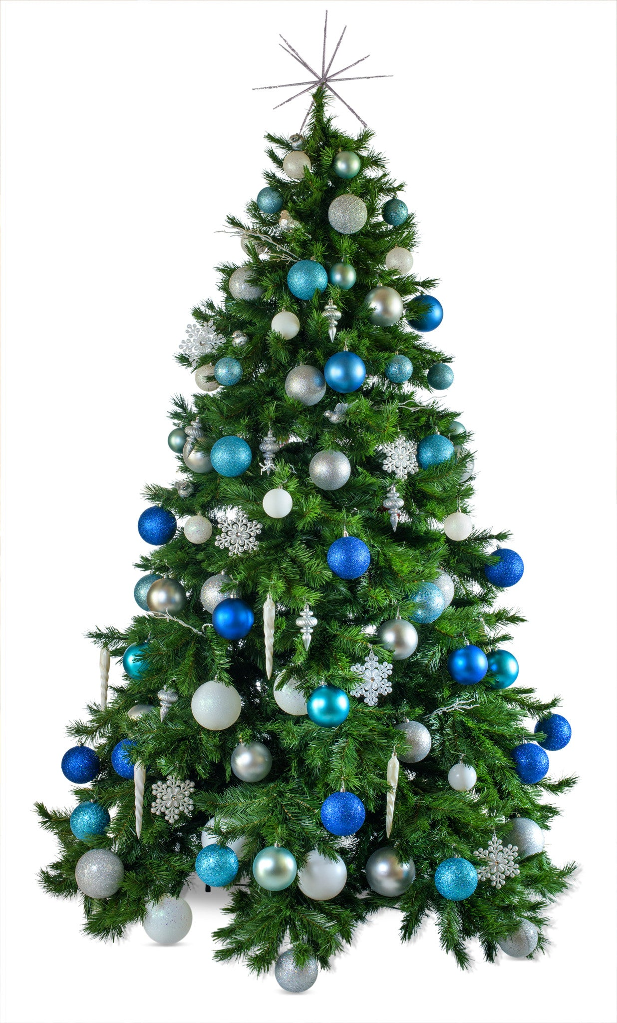 winter wonderland artificial decorated christmas tree hire