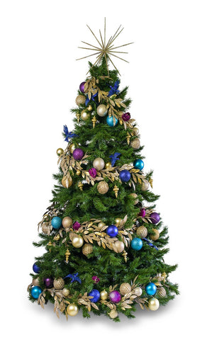 'Jewel' LIMITED EDITION artificial decorated Christmas Tree - Hire