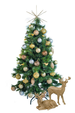Hire a tabletop Metallic decorated Christmas tree for tabletops, receptions desks. Coordinates beautifully with professionally decorated Christmas trees.
