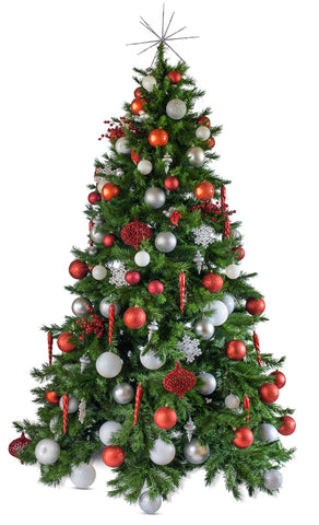 'Noel' artificial decorated Christmas Tree - Hire