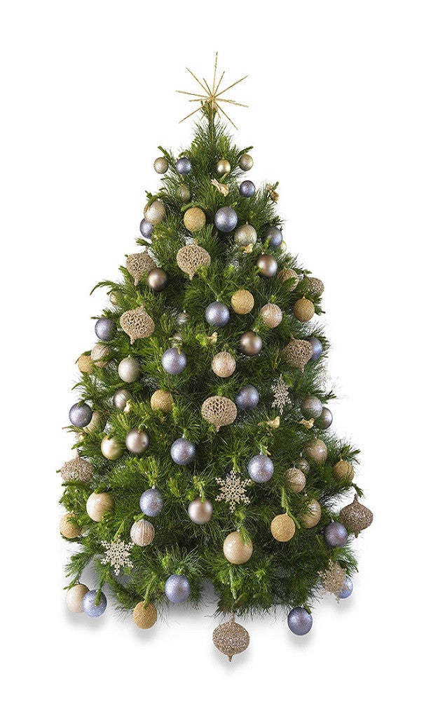 Real Christmas Tree.Platinum Real Decorated Christmas Tree Hire