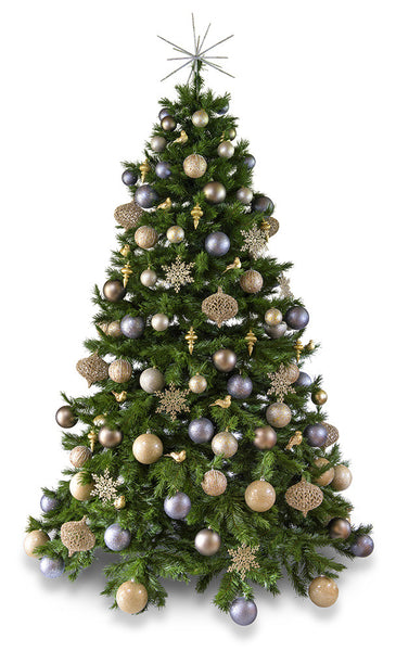 'Platinum' artificial decorated Christmas Tree - Hire ...