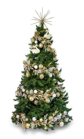 'Swan Princess' LIMITED EDITION artificial decorated Christmas Tree - Hire