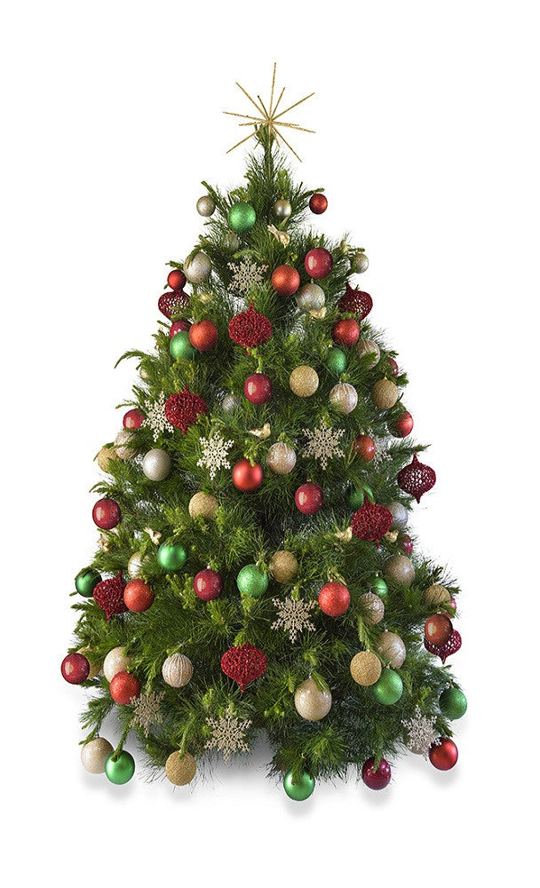 Real Christmas tree delivered Melbourne hire decorated Christmas tree