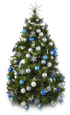 'Winter Wonderland' real decorated Christmas Tree - Hire