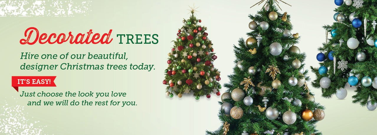 Decorated Christmas trees Melbourne, Christmas trees for hire