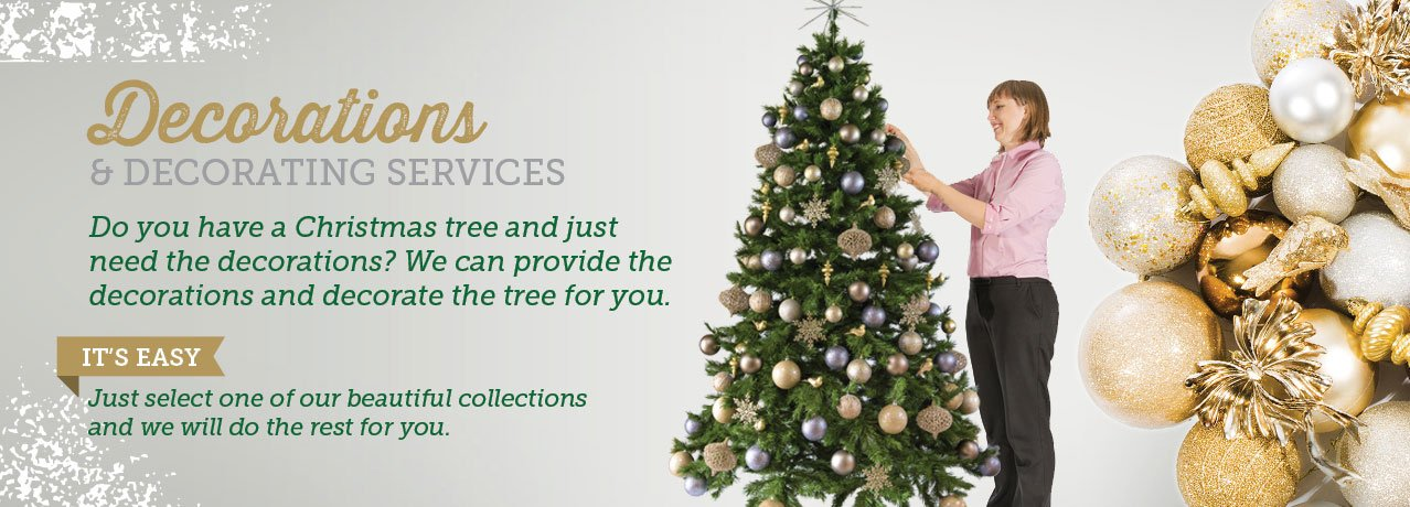 Decorated Christmas trees Melbourne, hire Christmas decorations