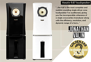 Voxativ 9.87 loudspeakers winning TAS Golden Ear Award 2018