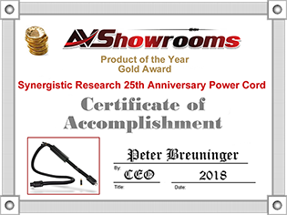 Synergistic Research 25th Anniversary Limited Edition Power Cords