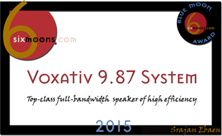 Blue Moon Award for Voxativ 9.87 System speakers