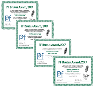 8 Positve Feedback Brutus Awards 2017 for Synergistic Research