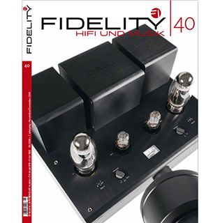 Lyric Audio's Ti100 Mk.II on the front page of the new Fidelity magazine