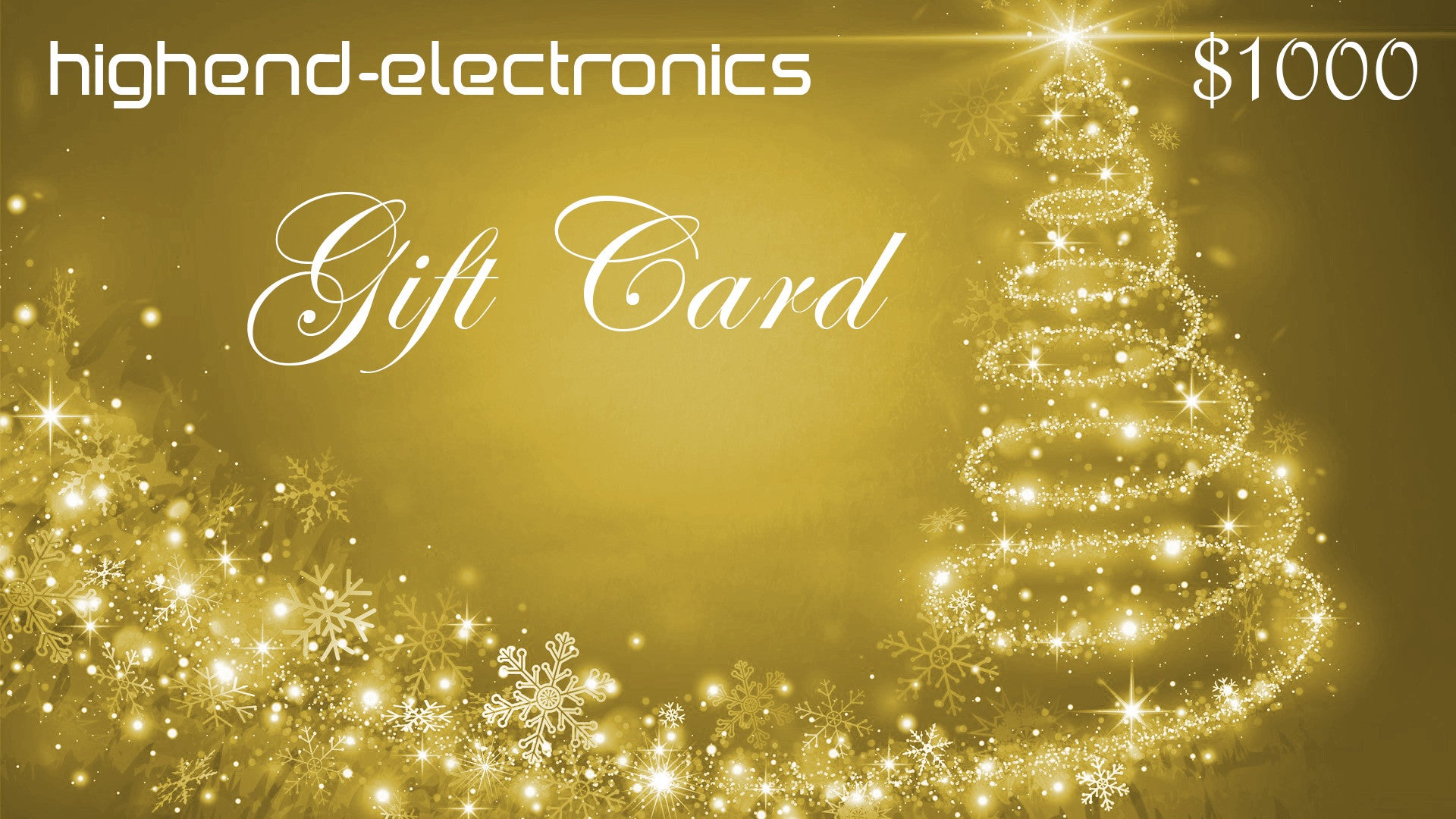 Gift Cards | highend-electronics, inc.