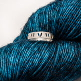 "Sterling SilverStockinette Knit ""Yarn Life"" Ring for Knitters"