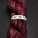 "Gift for knitters_ Sterling Silver Luxury Stockinette Knit ""Yarn Life"" Ring"