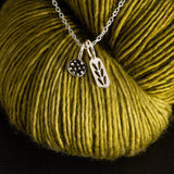 Stockinette Stitch & Demi-Sec Stitch Markers Necklace- In Case Of A Knit Marker Emergency