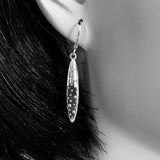 Sterling Silver Double Sided Demi-Sec Drop Earrings