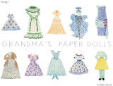 Grandma's Paper Doll - 1 Doll with 10 Outfits Group 7- PDF Download