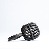 Black Matte Steel 3D Printed Yarn Ball Ring