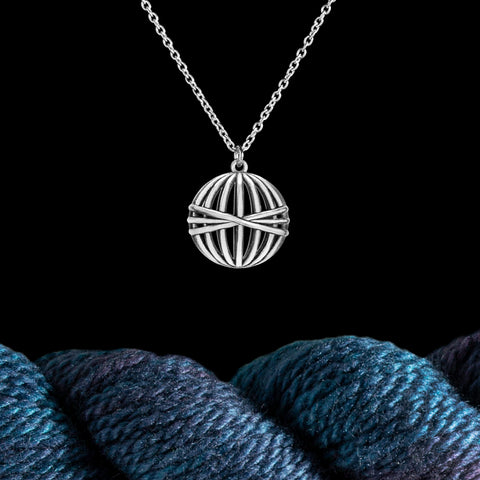 Ball of Yarn Necklace in Sterling Silver