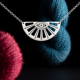 I Spy Knitting In My Eye Sterling Silver Necklace