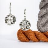 Balls of Yarn Earrings in Sterling Silver