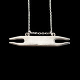 Sterling Silver Weaving Shuttle Necklace