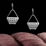 Sterling Silver Stockinette Stitch Project Tote Earrings