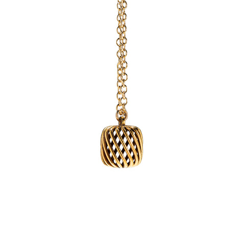There Will Be Yarn Cake Necklace 18K Gold Plated on Sterling Silver