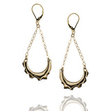 Porterness Studio Bronze And Gold Bitey Earrings That Swing