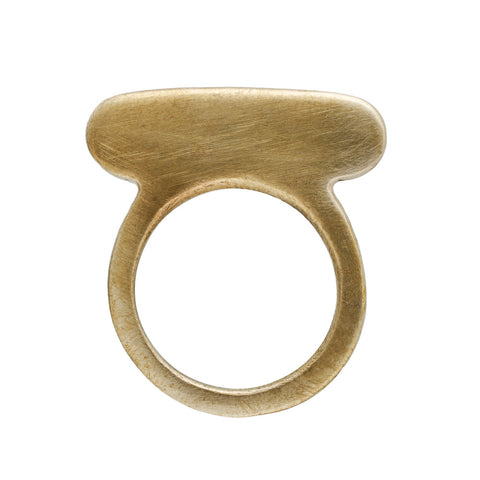 Bronze Happy Pill Ring