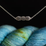Yarn Twist Necklace for Yarn Lovers