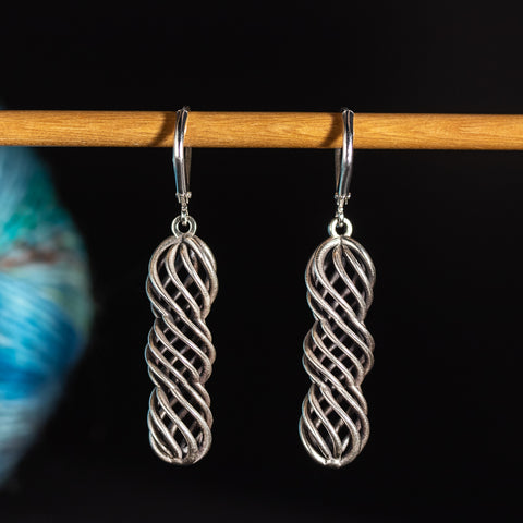 Yarn Twist Earrings for Yarn Lovers