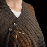 Porterness Studio Bronze Lolly Shawl Pin Luxury Knitting Jewelry for the Contemporary Yarn Connoisseur