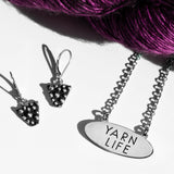 "Luxury gifts for Knitters - Sterling Silver ""yarn life"" necklace"