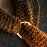 Porterness Studio Bronze Hand Craved Shawl Ring Knitting Jewelry