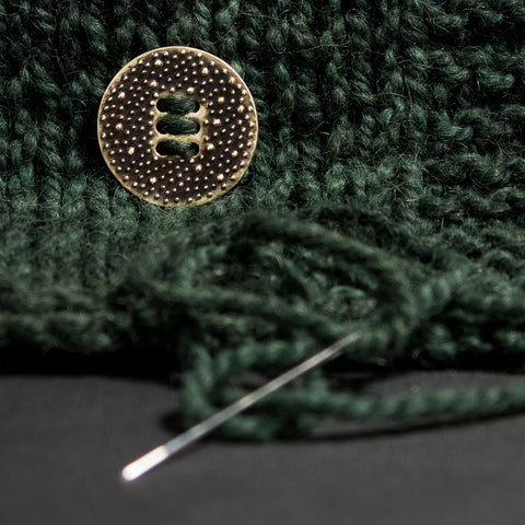 Jewelry for Yarn - Bronze Button for Fiber Arts Lifestyle -The Large Porterness6 Button