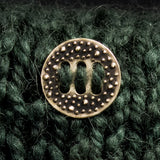 Porterness Studio Bronze Button for Fiber Arts Lifestyle -The Porterness6 Button 1''