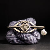 Porterness Studio Eye Shawl Pin With Pearl