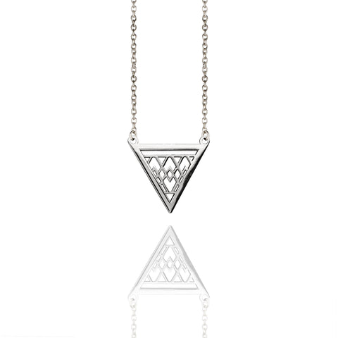 Porterness Studio Sterling Silver Triangle Necklace