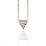 Porterness Studio Bronze Triangle Necklace