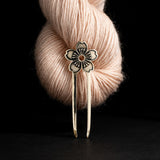 Porterness Studio Bronze Blossom Shawl Pin for knitters