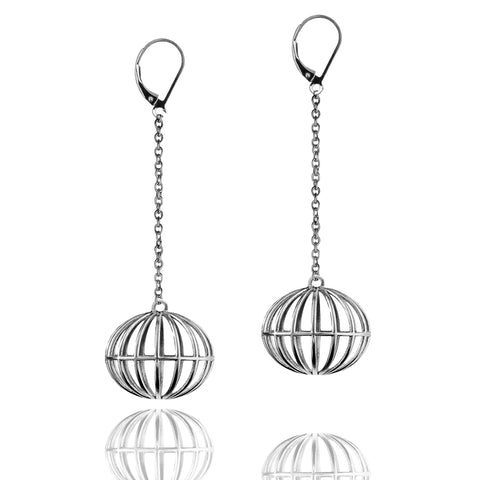 Porterness Studio Sterling Silver All Over The World Earrings long Trip
