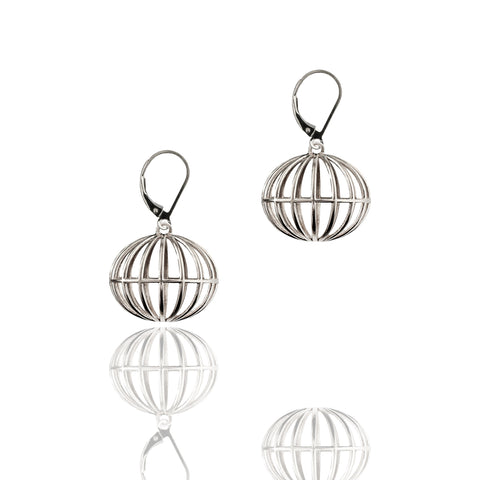 Sterling Silver All Over The World Earrings Short Trip