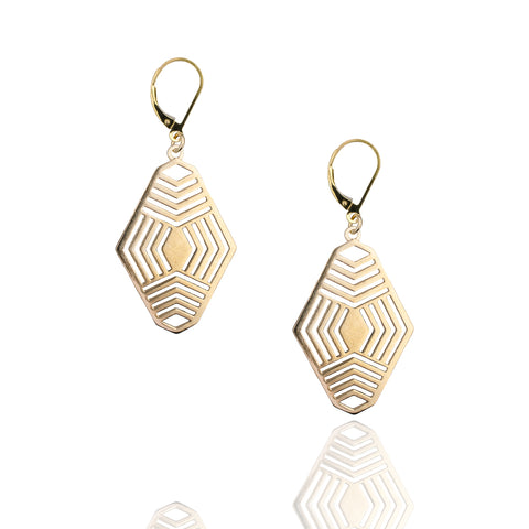 Porterness Studio Bronze And Gold Filled Devine Lines Earrings