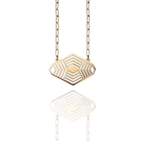 Bronze Devine Lines Necklace