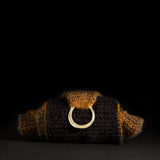 Porterness Studio Bronze Hand Craved Shawl Ring Luxury Knitting Jewelry for the Contemporary Yarn Connoisseur