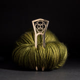 Porterness Bronze Crop Circles Shawl Pin For Yarn Knitters and Crocheters Addicts