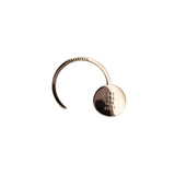 Bronze Round Shawl Pin with Large Demi-sec Drop